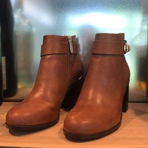 TopShop camel heel booties size 6 or 36